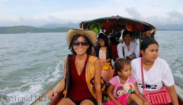 Boat crossing to Myanmar