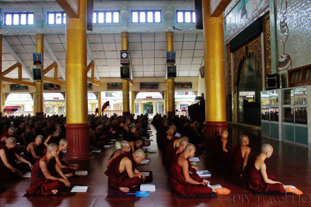 Study room at Kha Khat Wain Kyaung