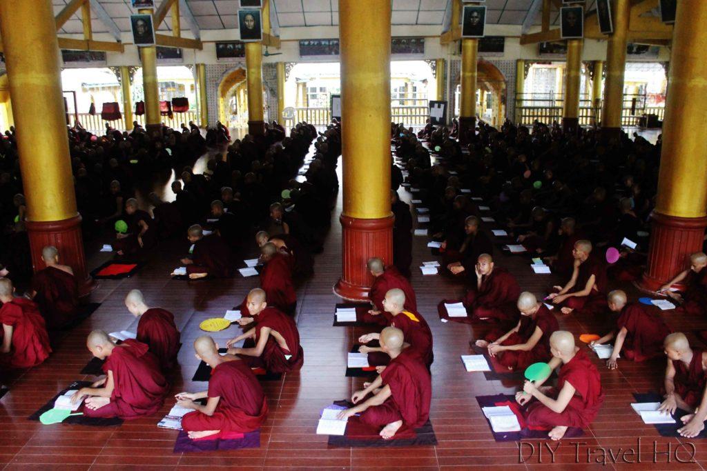 Study session at Kha Khat Wain Kyaung