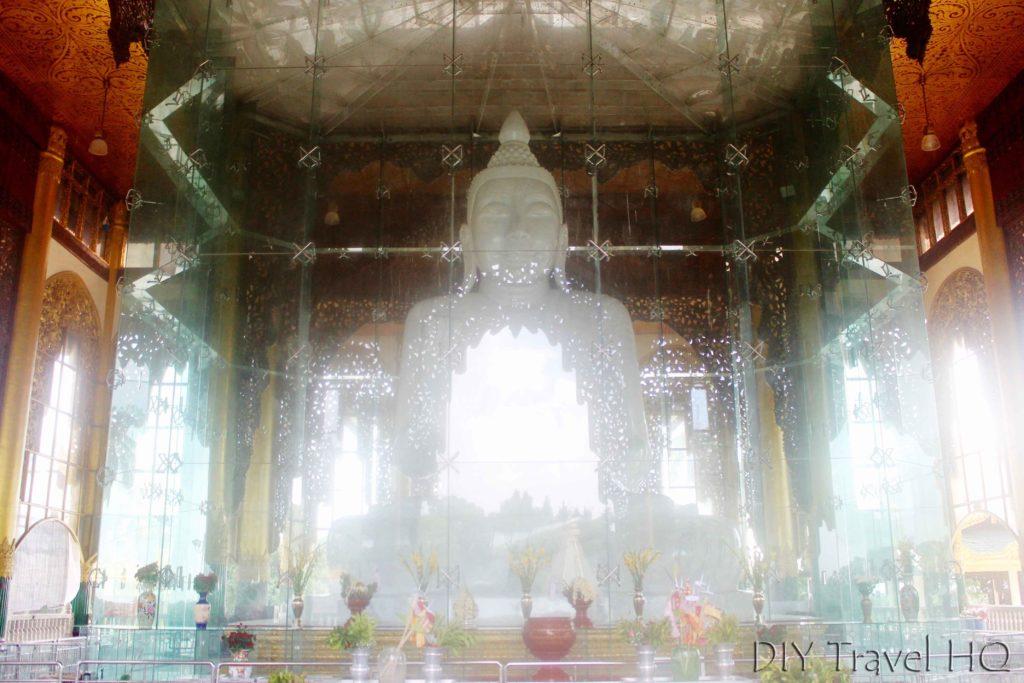 White marble Buddha in Yangon