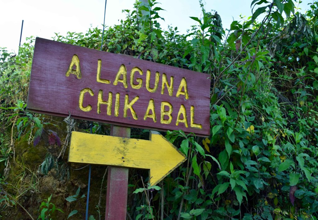 Laguna Chicabal Direction Arrow Posts