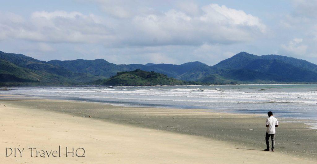 Man on Maungmagan Beach