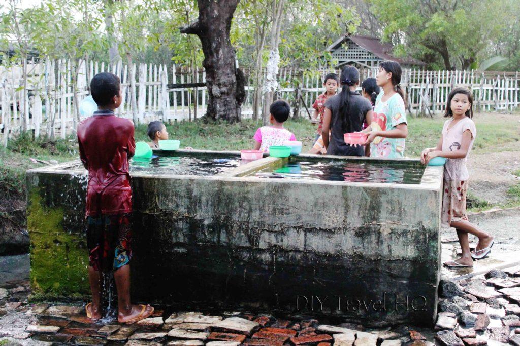 Thermal hot springs in Maungmagan