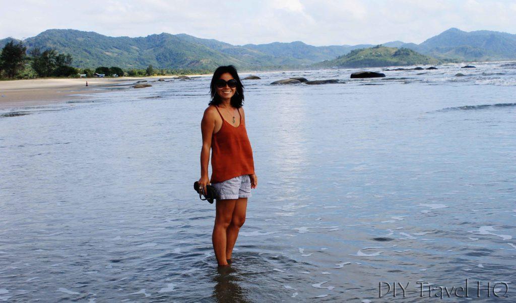 Me at Maungmagan Beach