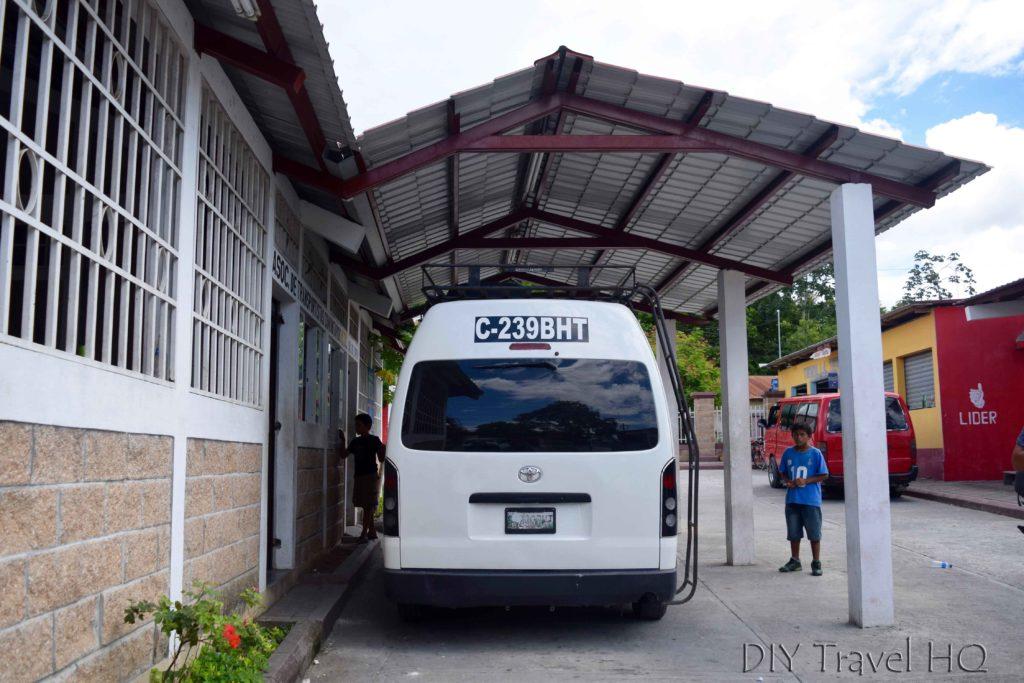 Melchor de Mencos Guatemala Microbus to Santa Elena