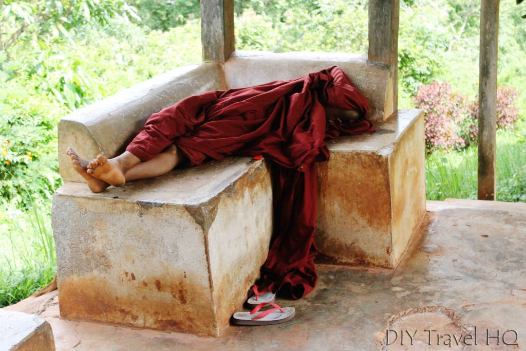 Sleeping monk in Kalaw