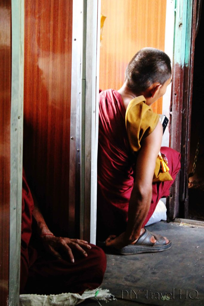 Monk on Myanmar Train