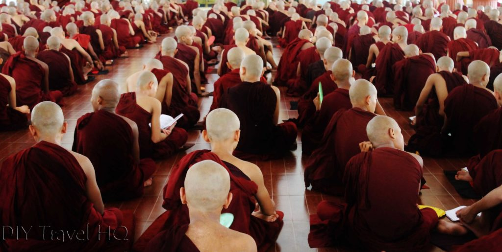 Monks studying Buddhism