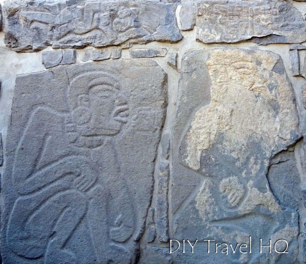 Monte Alban Ruins Edificio L Tomb Wall Reliefs