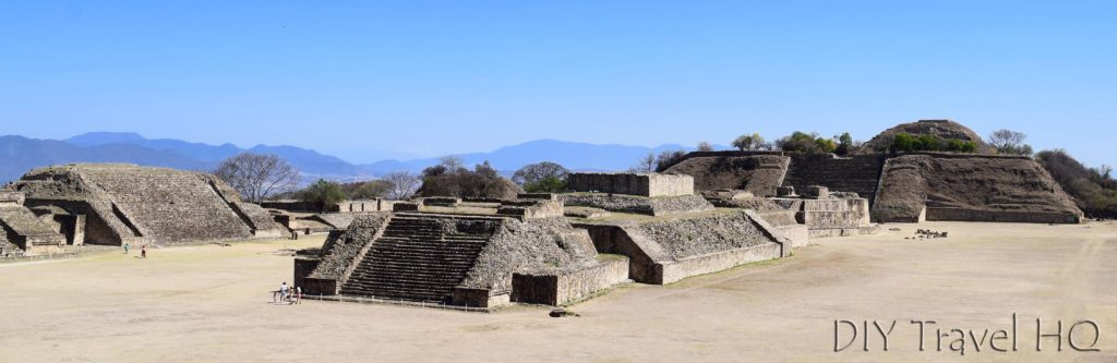 Monte Alban Ruins North Platform View