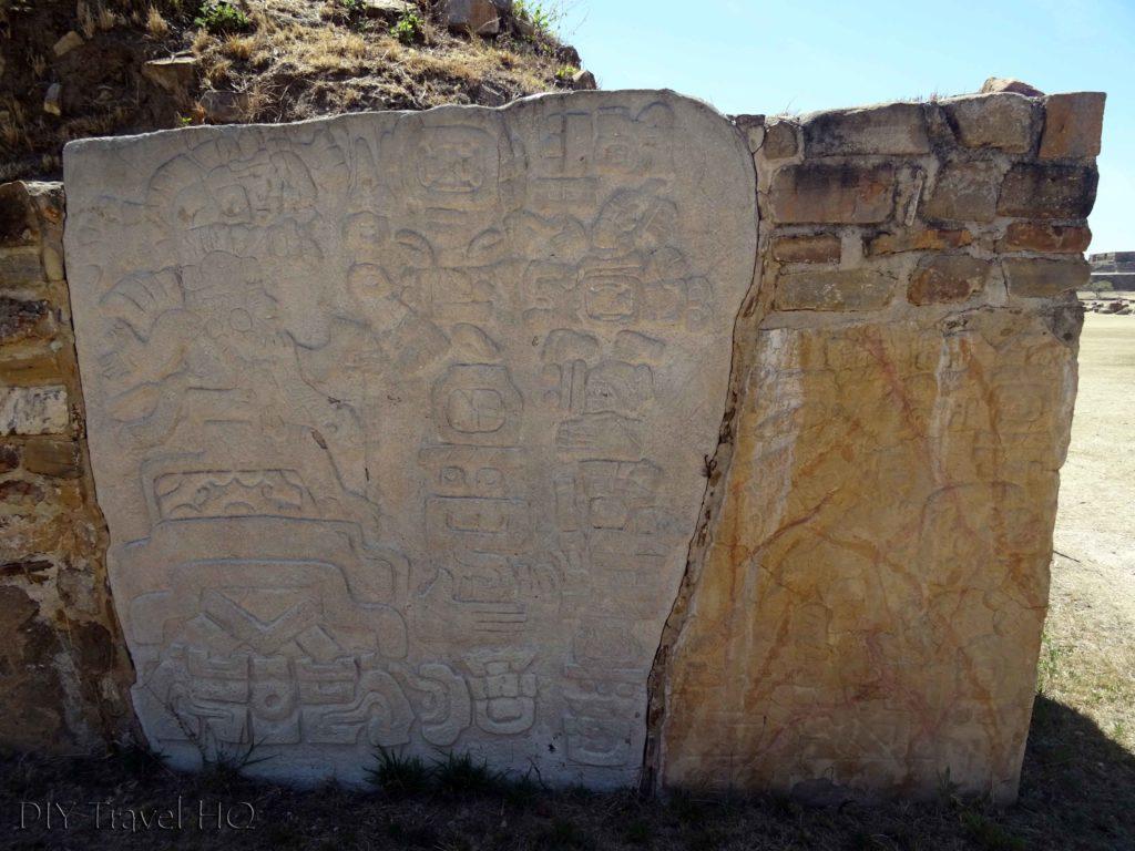 Monte Alban Ruins Plataforma Sur Cornerstone Reliefs
