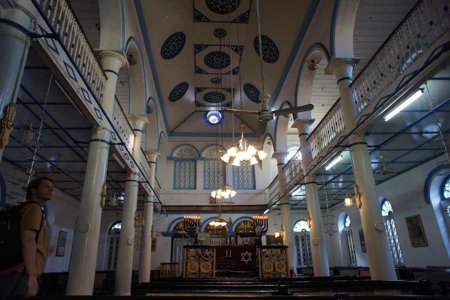 Inside Musmeah Yeshua Synagogue