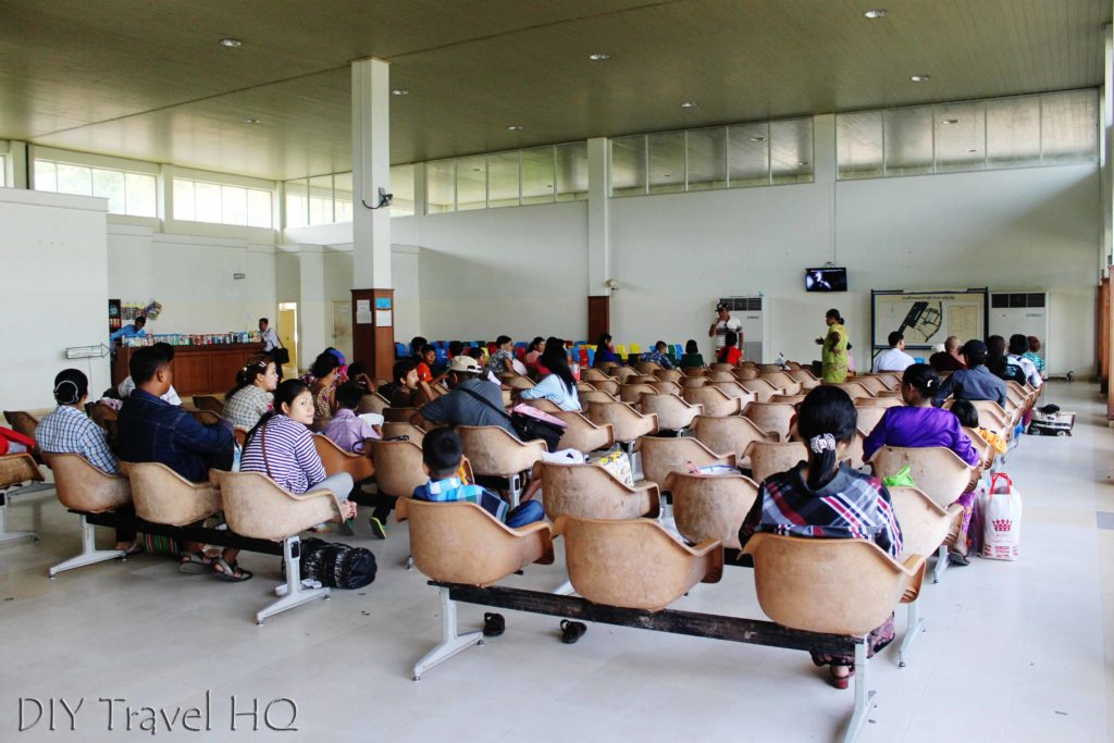 Departure lounge at Kawthaung Airport