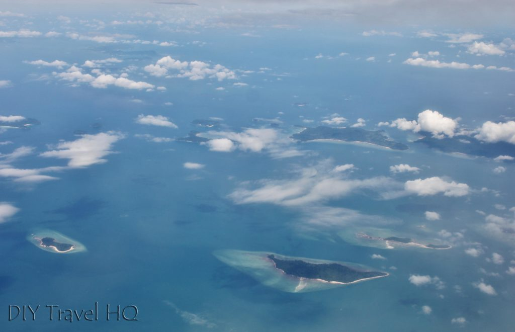 Flying over Mergui archipelago
