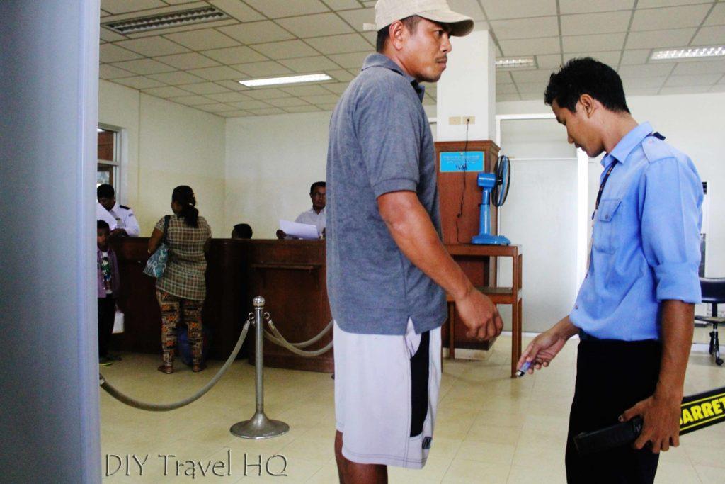 Security screening for Myanmar Airways