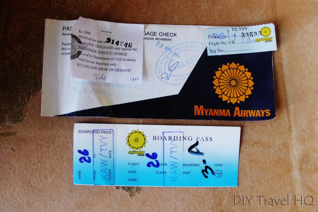Paper Tickets Myanmar Airways