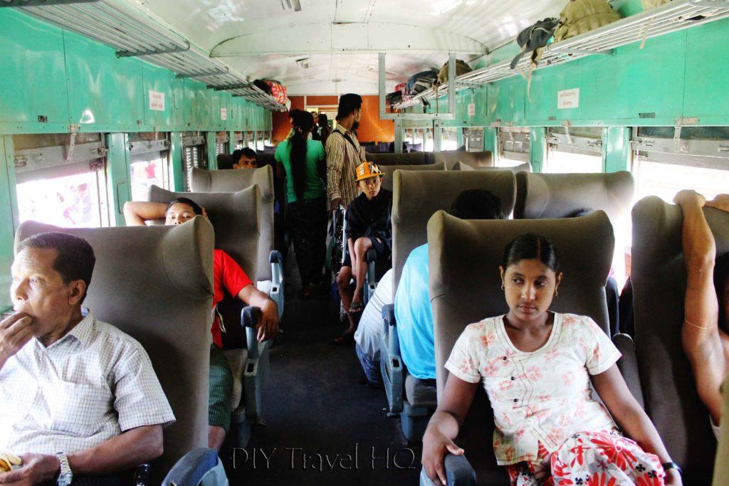 Passengers onboard train
