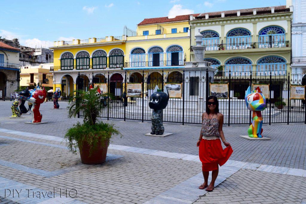 Havana walking tour Plaza Vieja Street Art