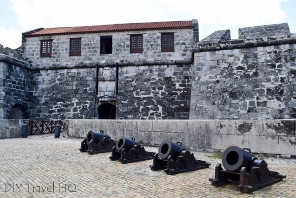 Old Havana Plaza de Armas Castillo de la Real Fuerza Cannons