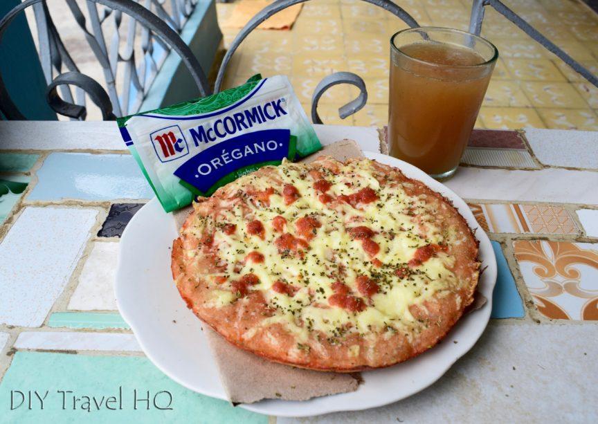Peso pizza in Cuba