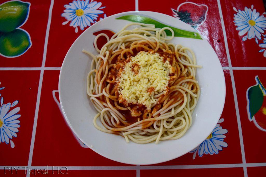 Spaghetti in Plaza de Armas