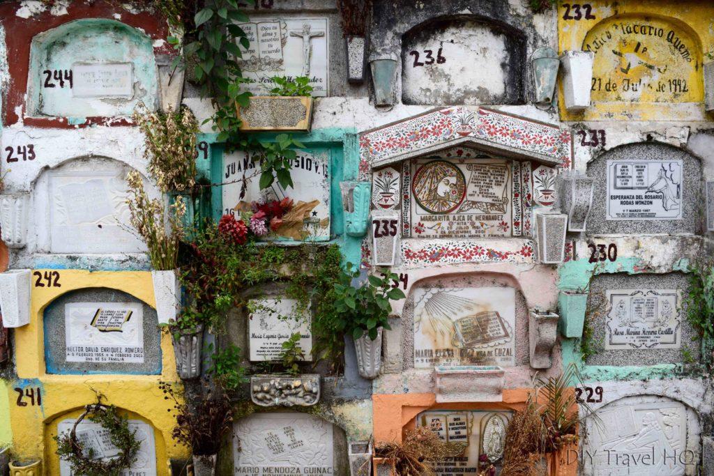 Quetzaltenango (Xela) El Calvario Cemetery Stacked Graves