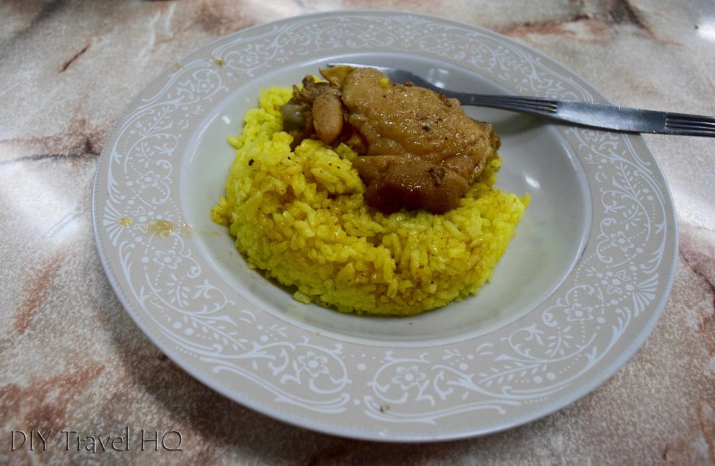 Rice & chicken dish in Cuba