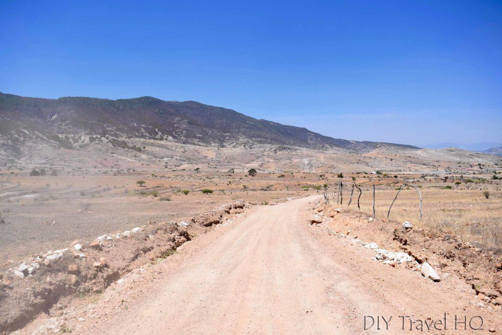 Road to Hierve el Agua