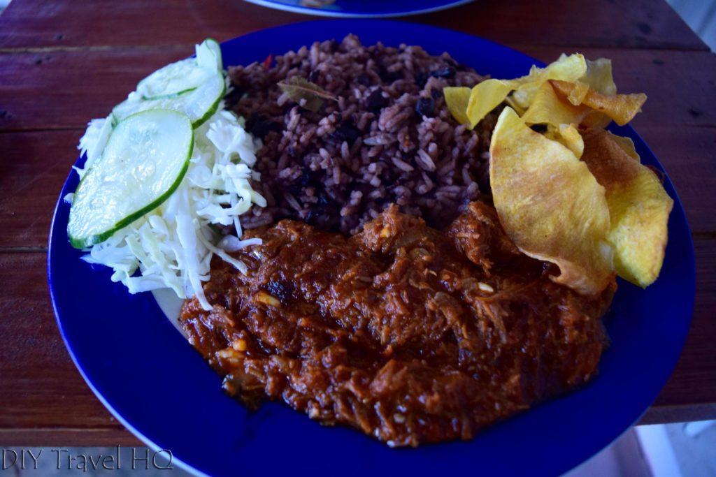 Ropa Vieja in Cuban restaurant