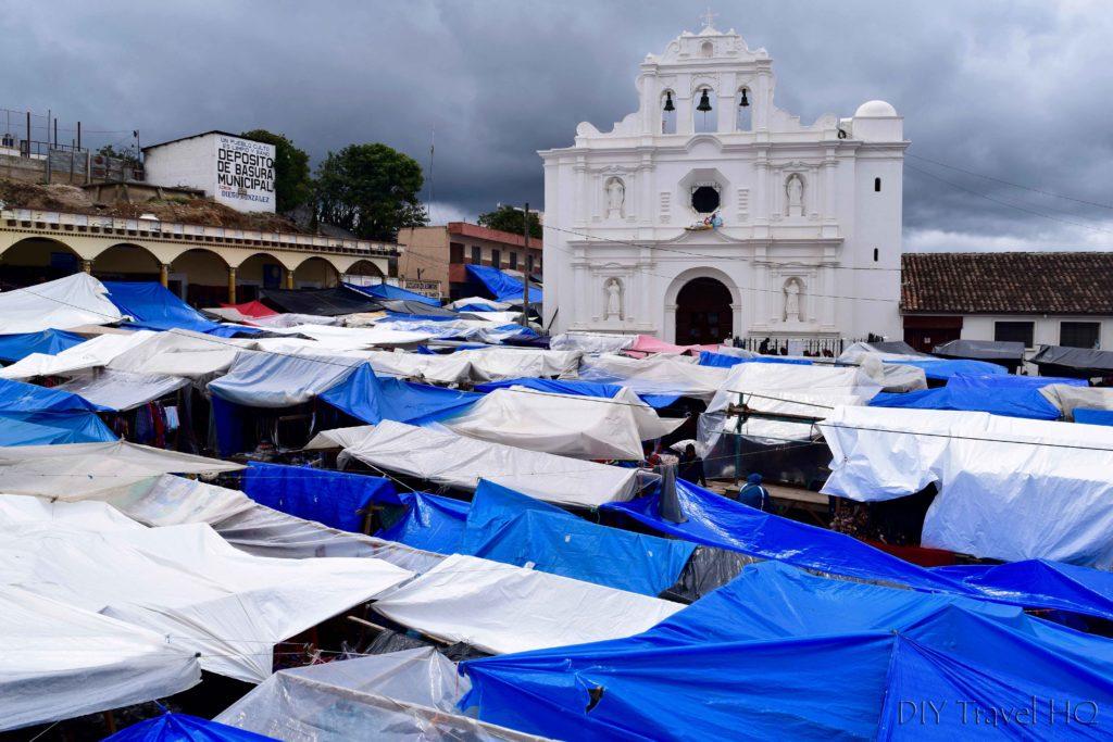 San Francisco El Alto Market Tent City and Church