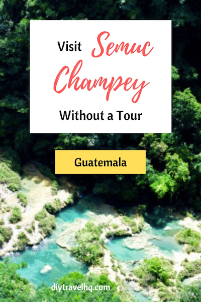 It's easy to visit Semuc Champey, Guatemala without a tour. Find out prices how to get there and see pictures of Semuc Champey one of the most beautiful places in Guatemala. Semuc Champey | Guatemala | Things to do in Guatemala #diytravel