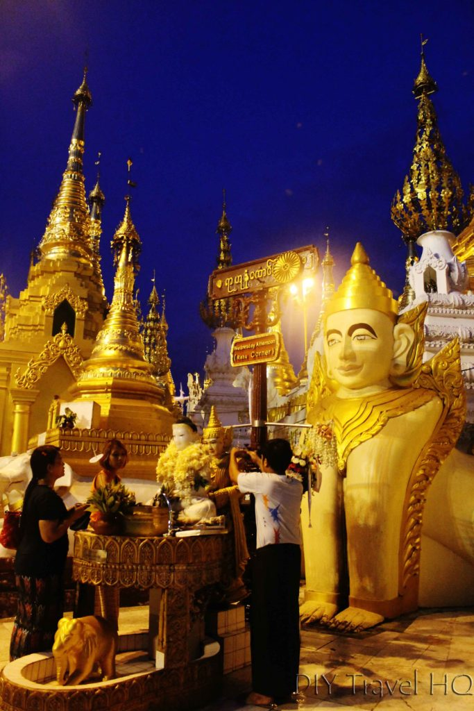Shrine rituals at Shwedagon