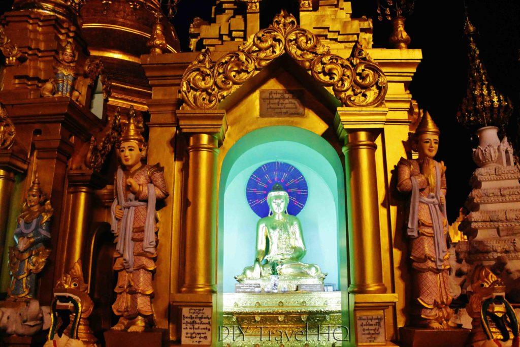 Bright temple shrines Shwedagon