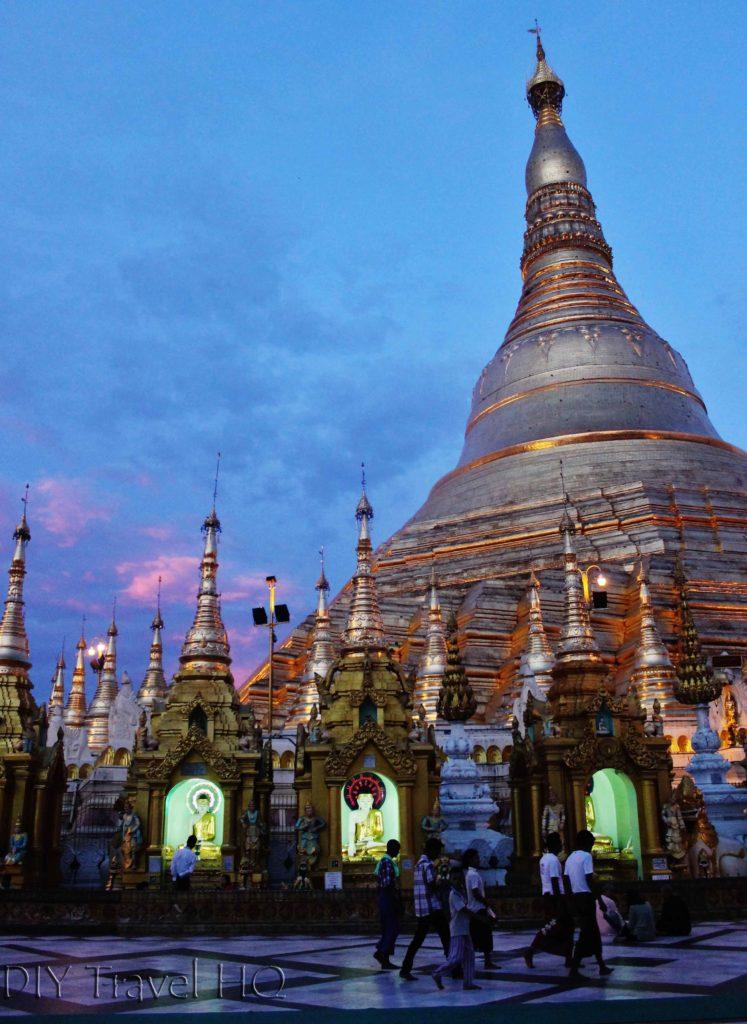 Shwedagon Pagoda Sunset