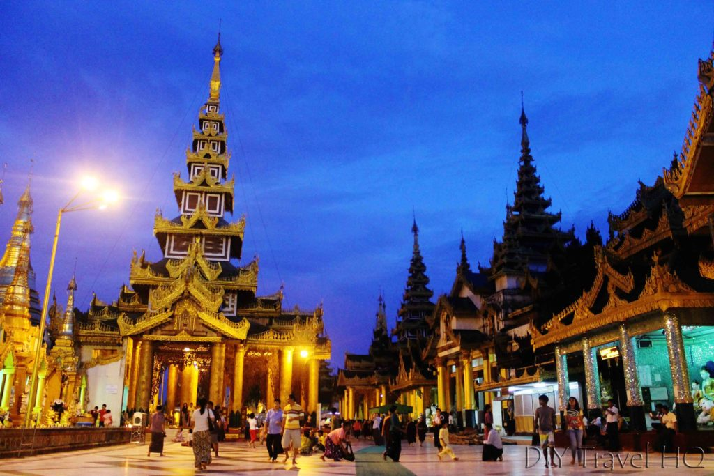 Nighttime at Shwedagon Pagoda