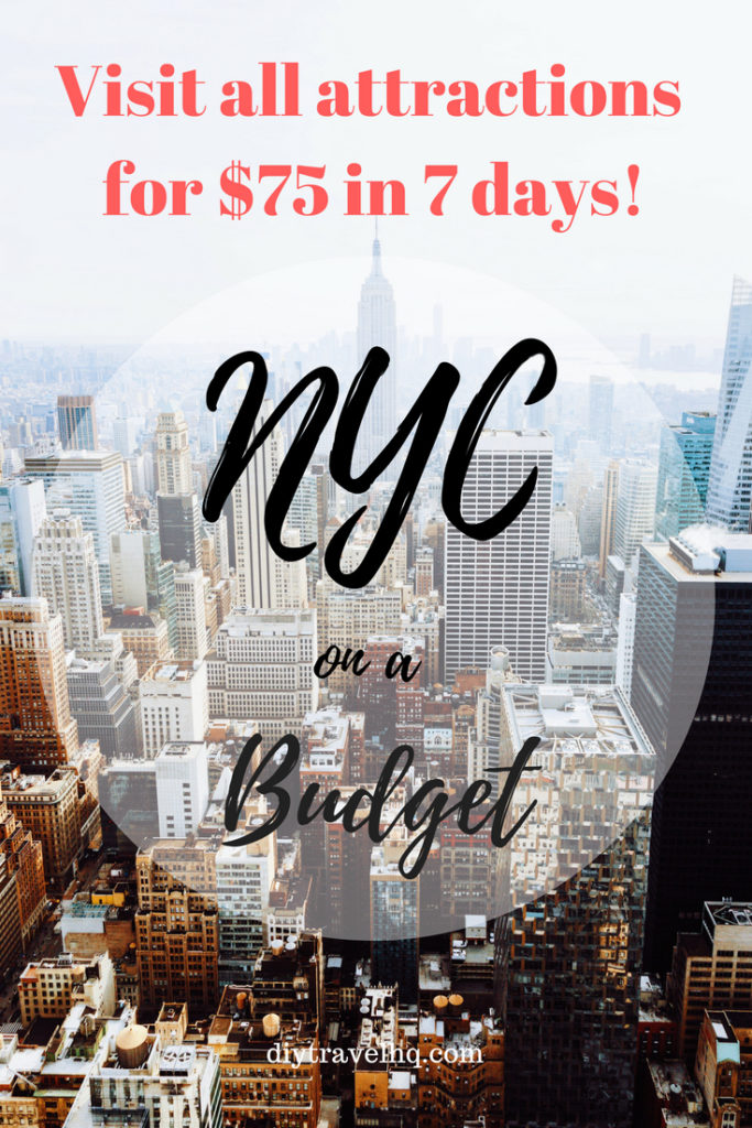 Introducing the ultimate NYC itinerary! Find out the best things to do in New York City, all free museum days & how you can visit every NYC attraction for $75 in 7 days! #nycitinerary #nycthingstodo #nyctravel #diytravel