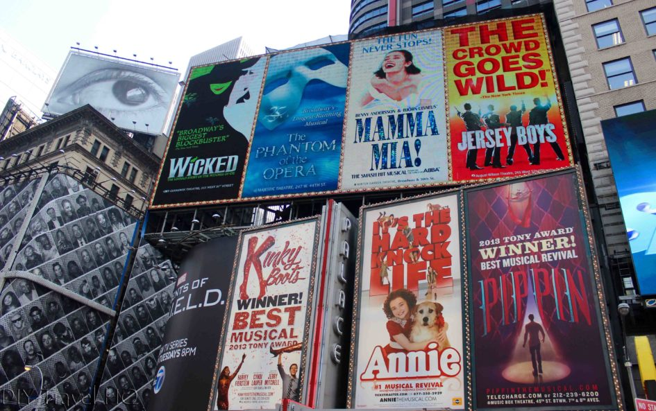 Broadway Posters in Time Square