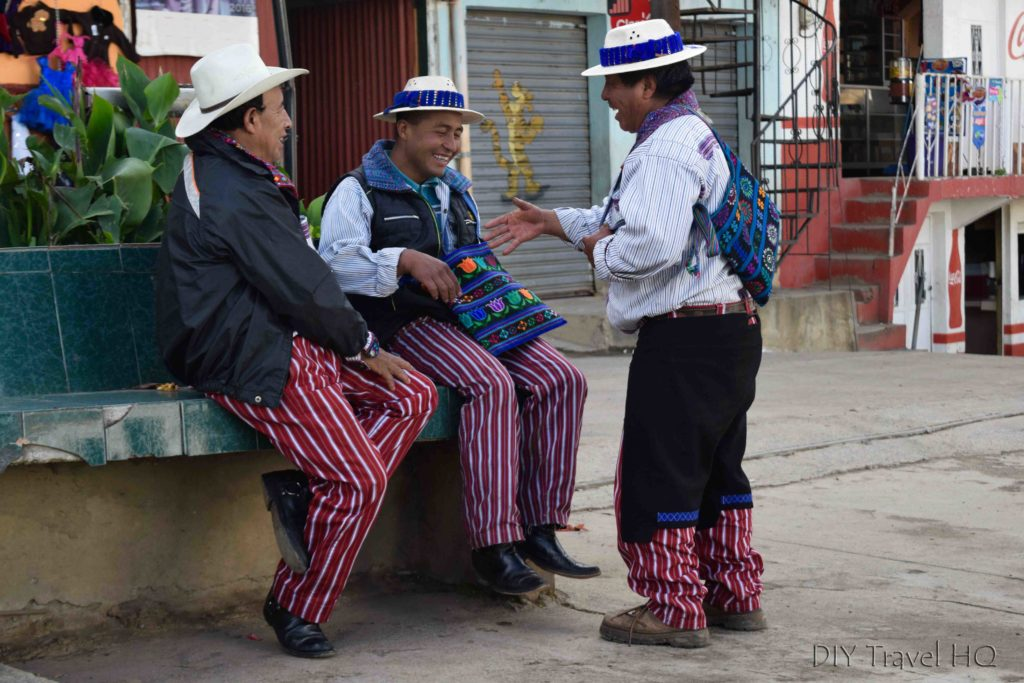 Todos Santos Cuchumatan Friendly Men in Traditional Clothing