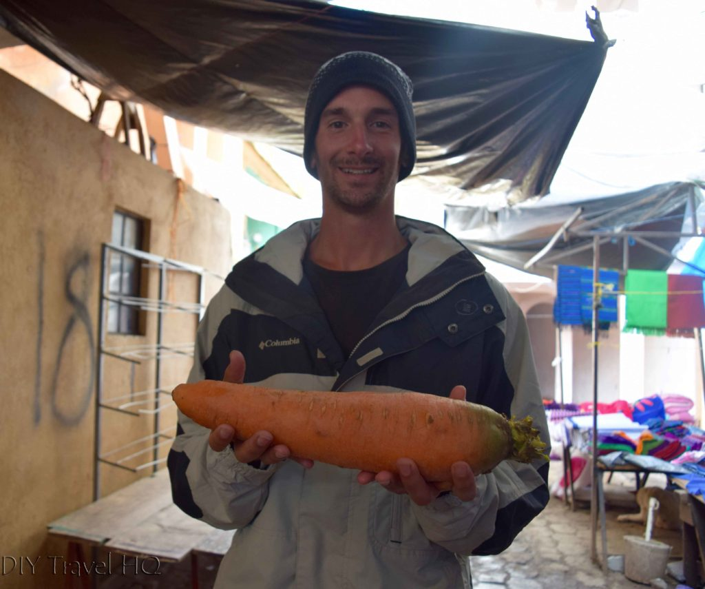 Todos Santos Cuchumatan Market Giant Carrot
