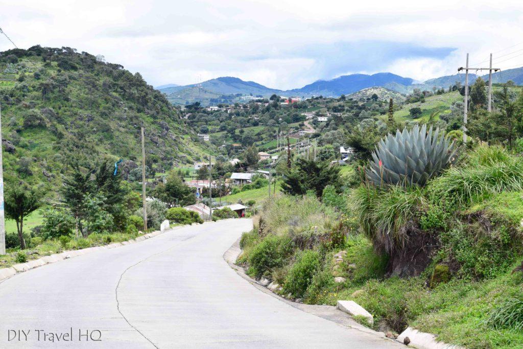 Todos Santos Cuchumatan to Huehuetenango Road in La Ventosa