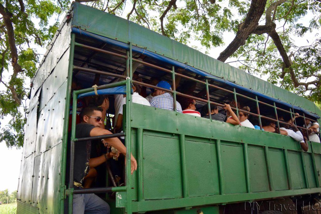 Getting around Cuba camiones trucks