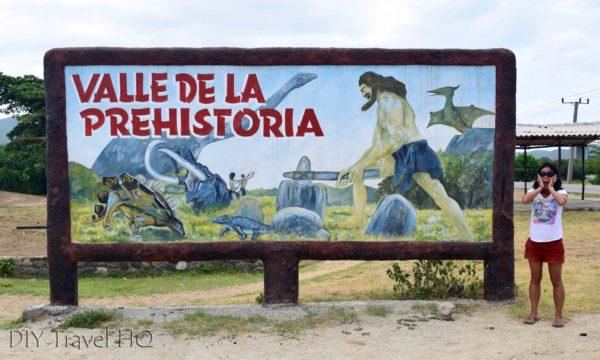 Valle de la Prehistoria sign