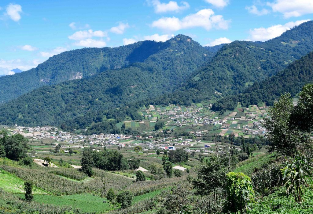 View of San Martin from Laguna Chicabal Hiking Trail