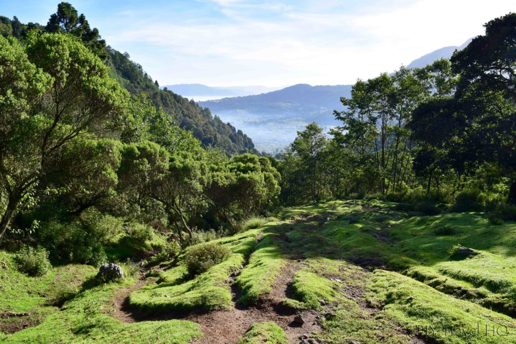 Volcan Santa Maria Hiking Start Path