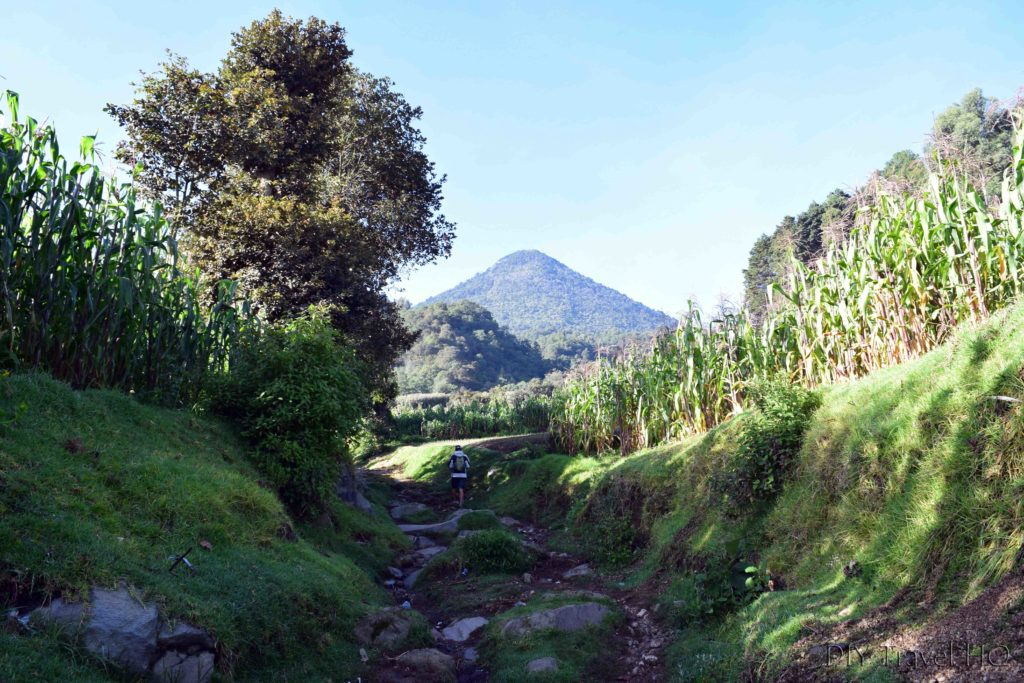 Volcan Santa Maria Hiking Through Farms