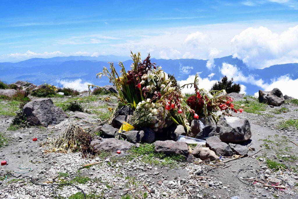 Volcan Santa Maria Mayan Offerings
