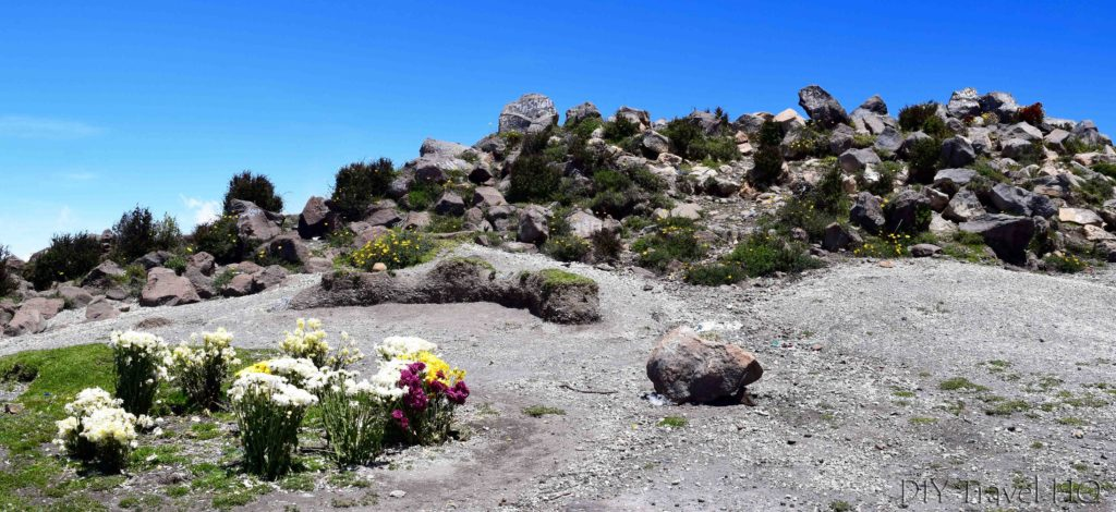 Volcan Santa Maria Summit and Mayan Flower Offerings