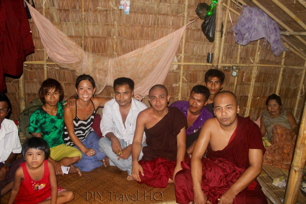 Visiting monk family in Yangon