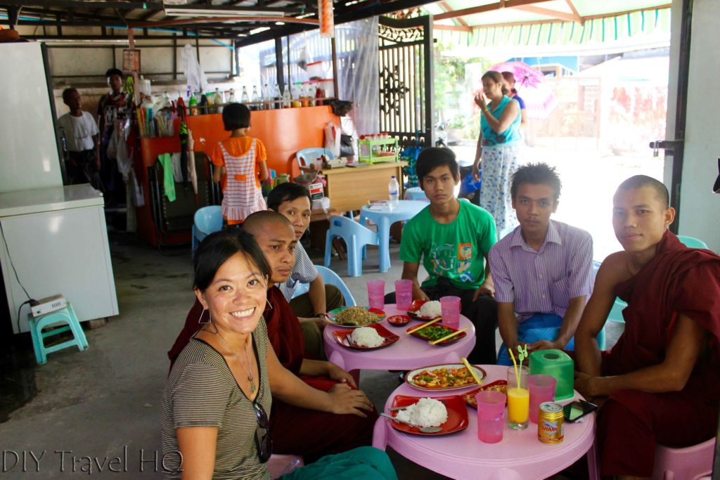 Lunch with monks