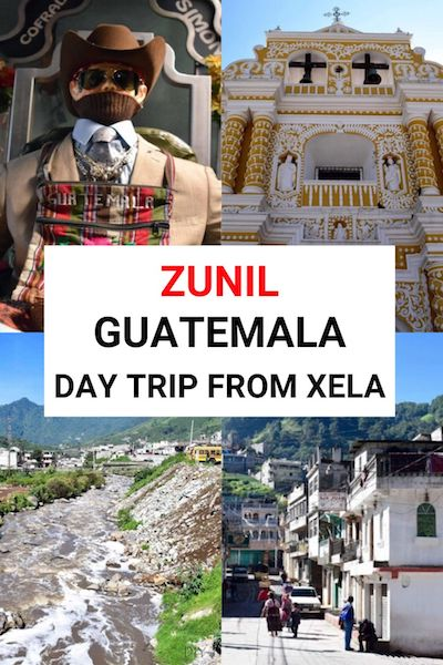 If you're traveling to Xela, Guatemala be sure to make a day trip to the quaint town of Zunil - find out how to get here and the best attractions it has to offer #zunil #xela #quetzaltenango #guatemala